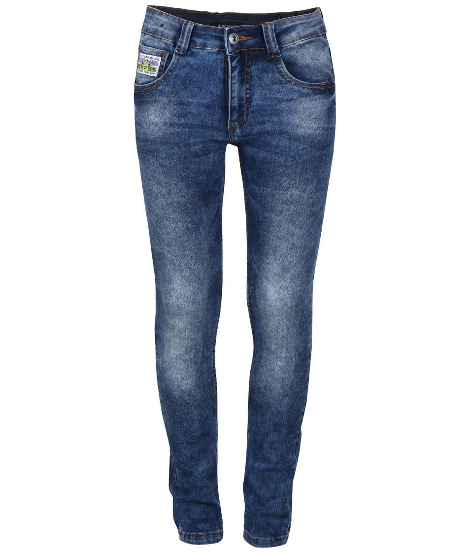 Modré klučičí vyšisované džíny Blue Seven