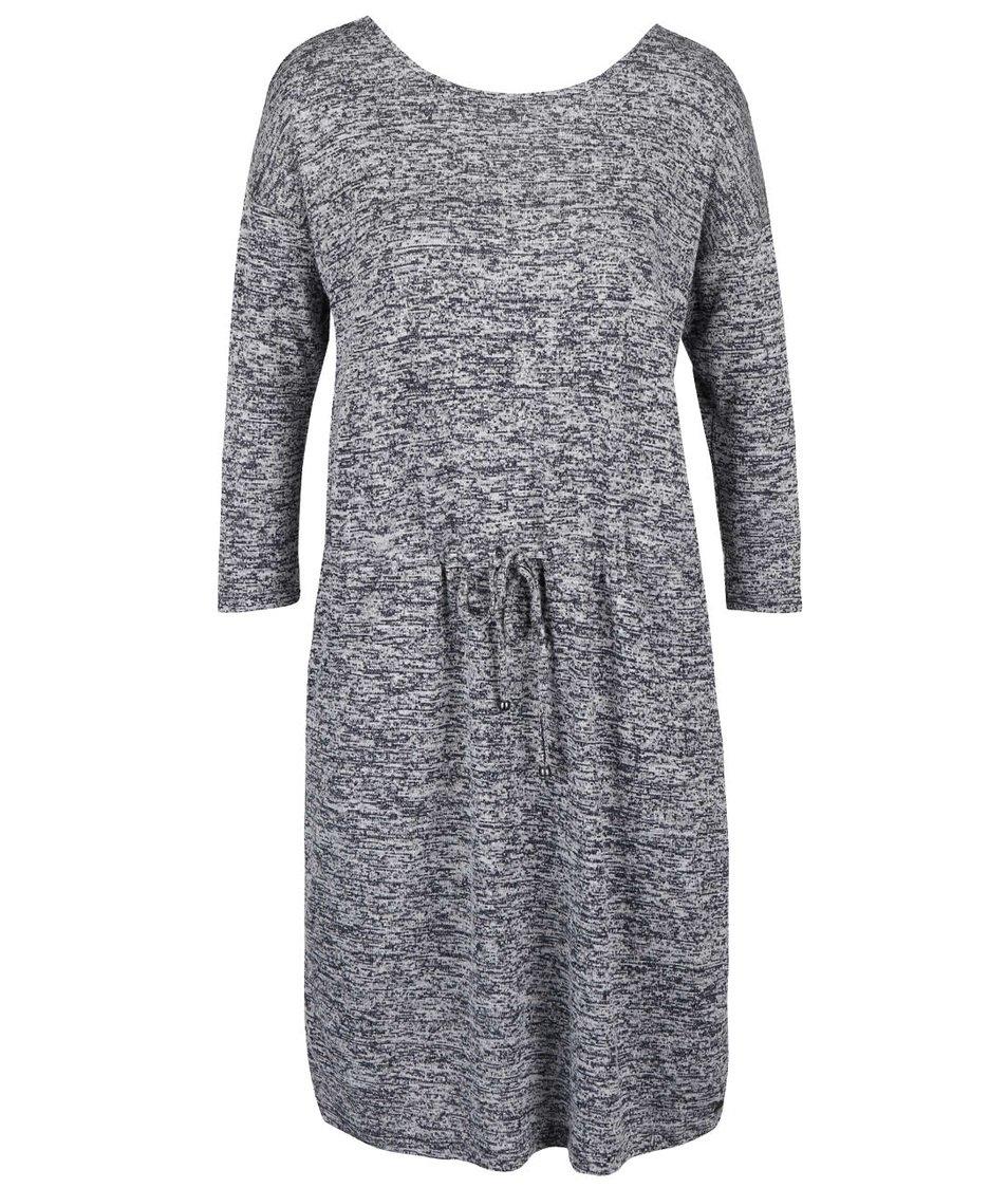 Modré dámské žíhané svetrové šaty s kapsami s.Oliver