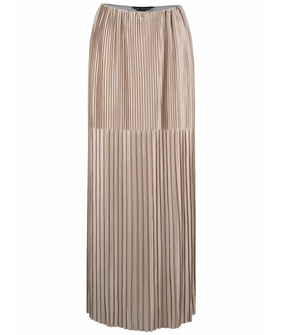 Plisovaná maxi sukně ve zlaté barvě Miss Selfridge