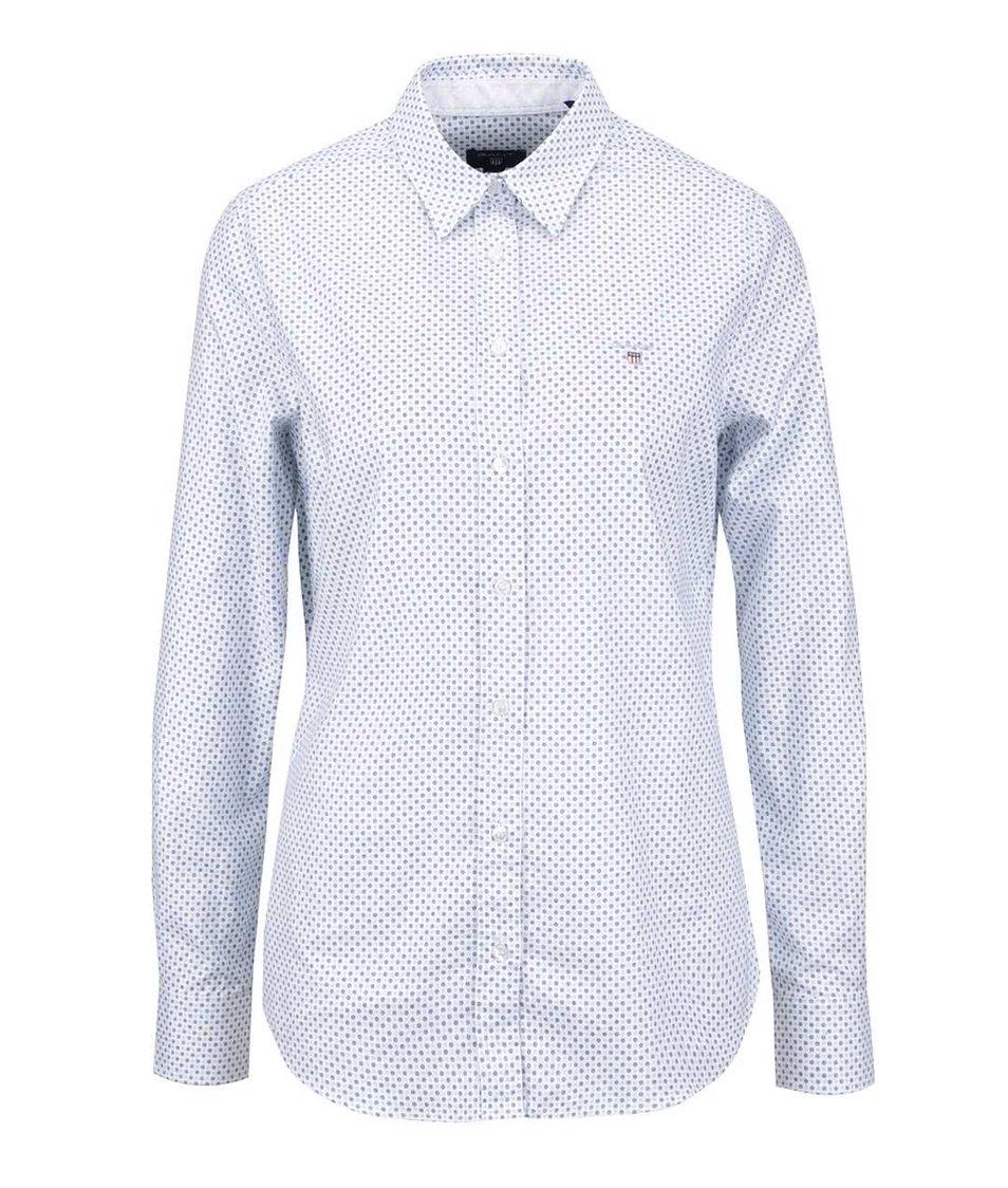 Bílá dámská košile s drobným vzorem GANT