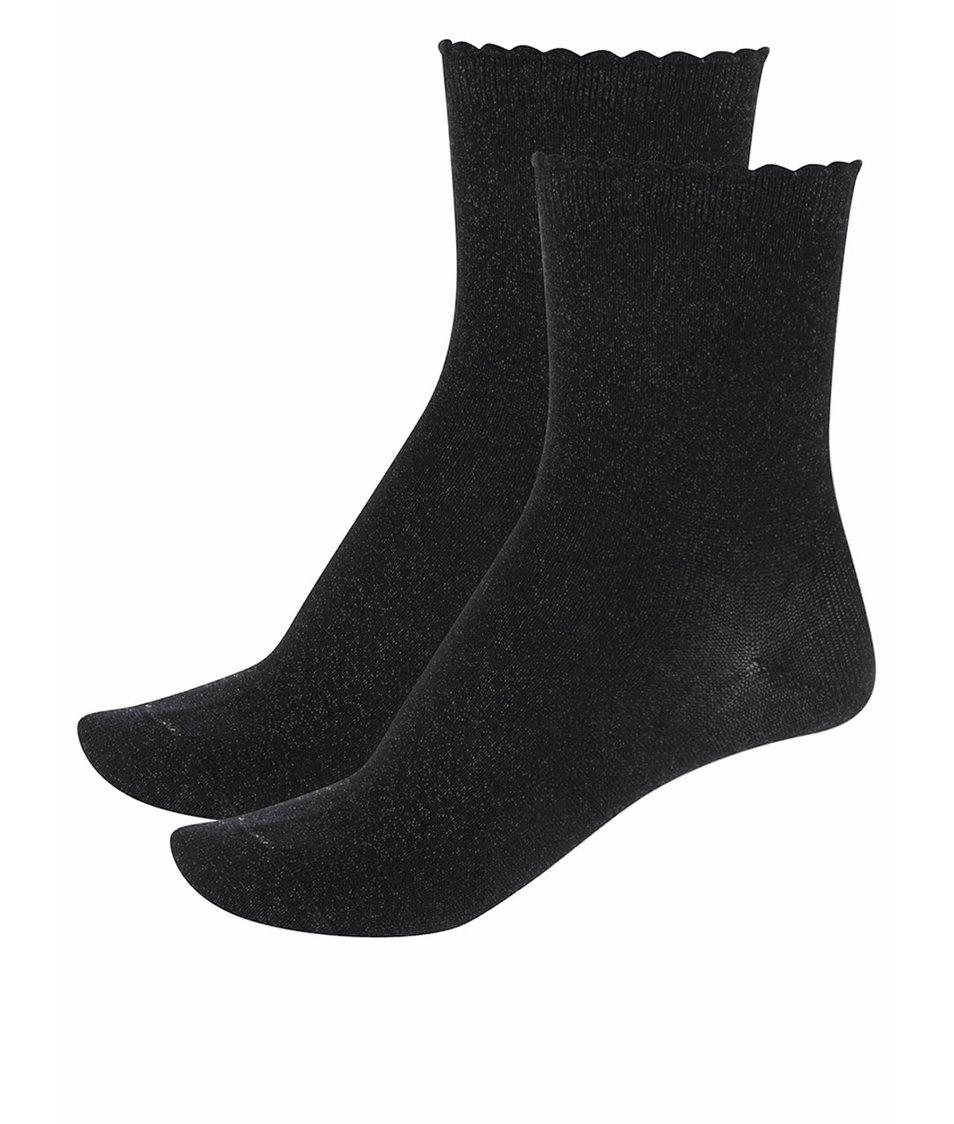 Sada dvou párů černých třpytivých ponožek Pieces Sebby