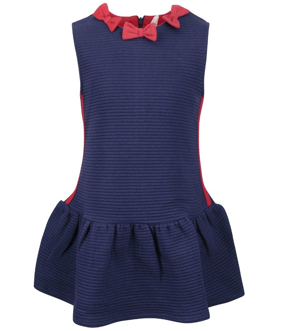 Modré holčičí šaty s mašličkami North Pole Kids