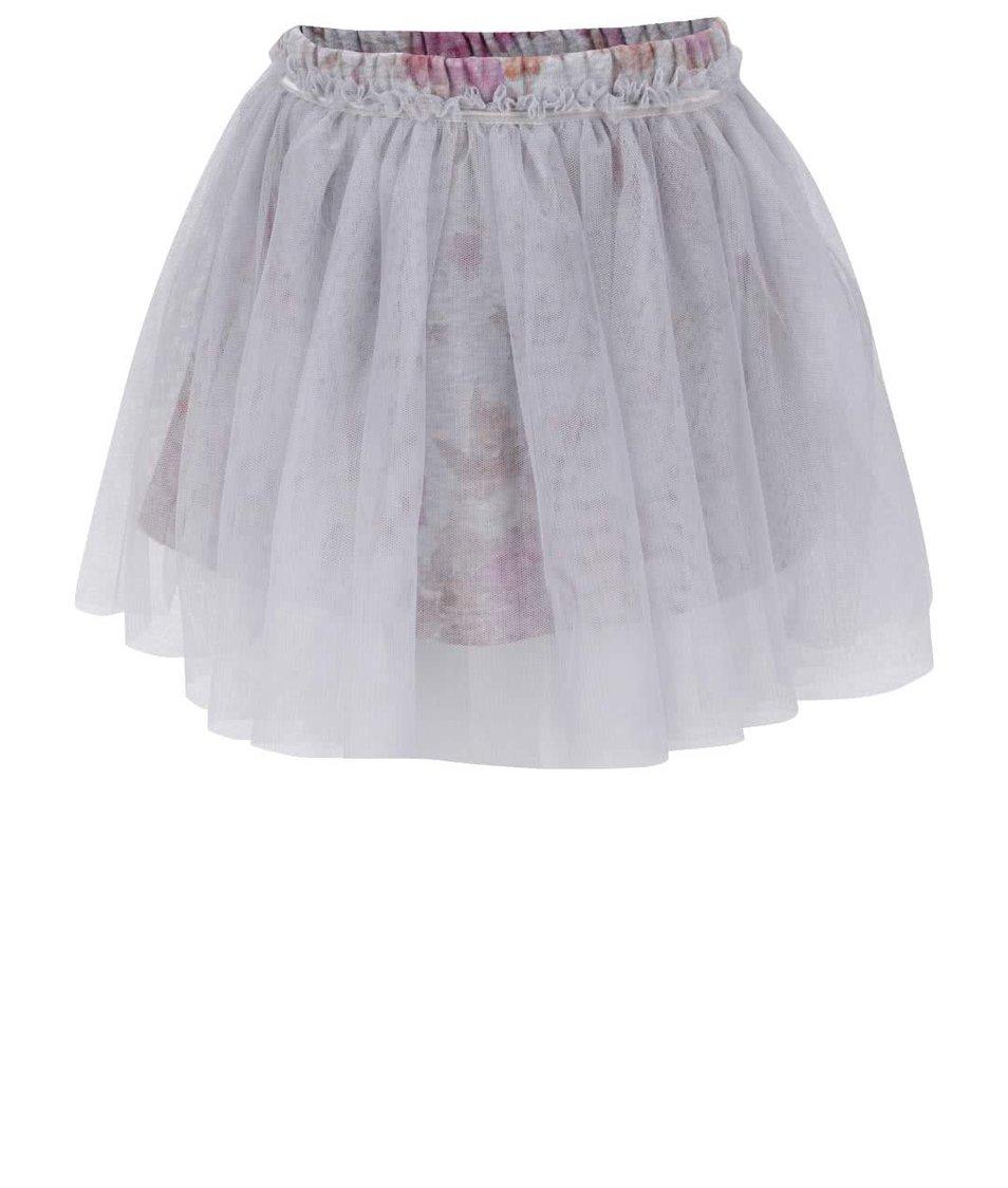 Šedá holčičí květovaná sukně Mix´n Match