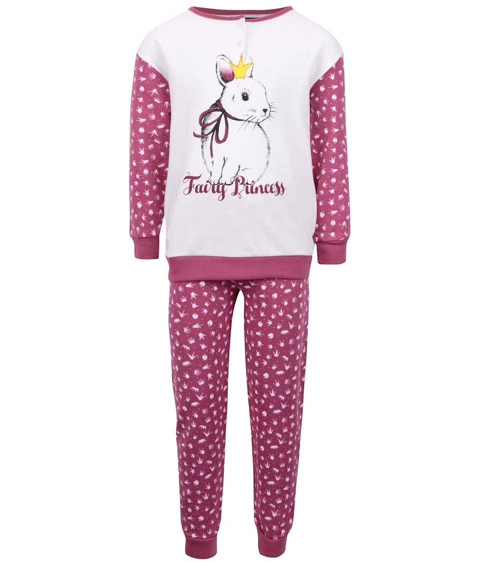 Krémovo-růžové pyžamo se zajíčkem Mix´n Match