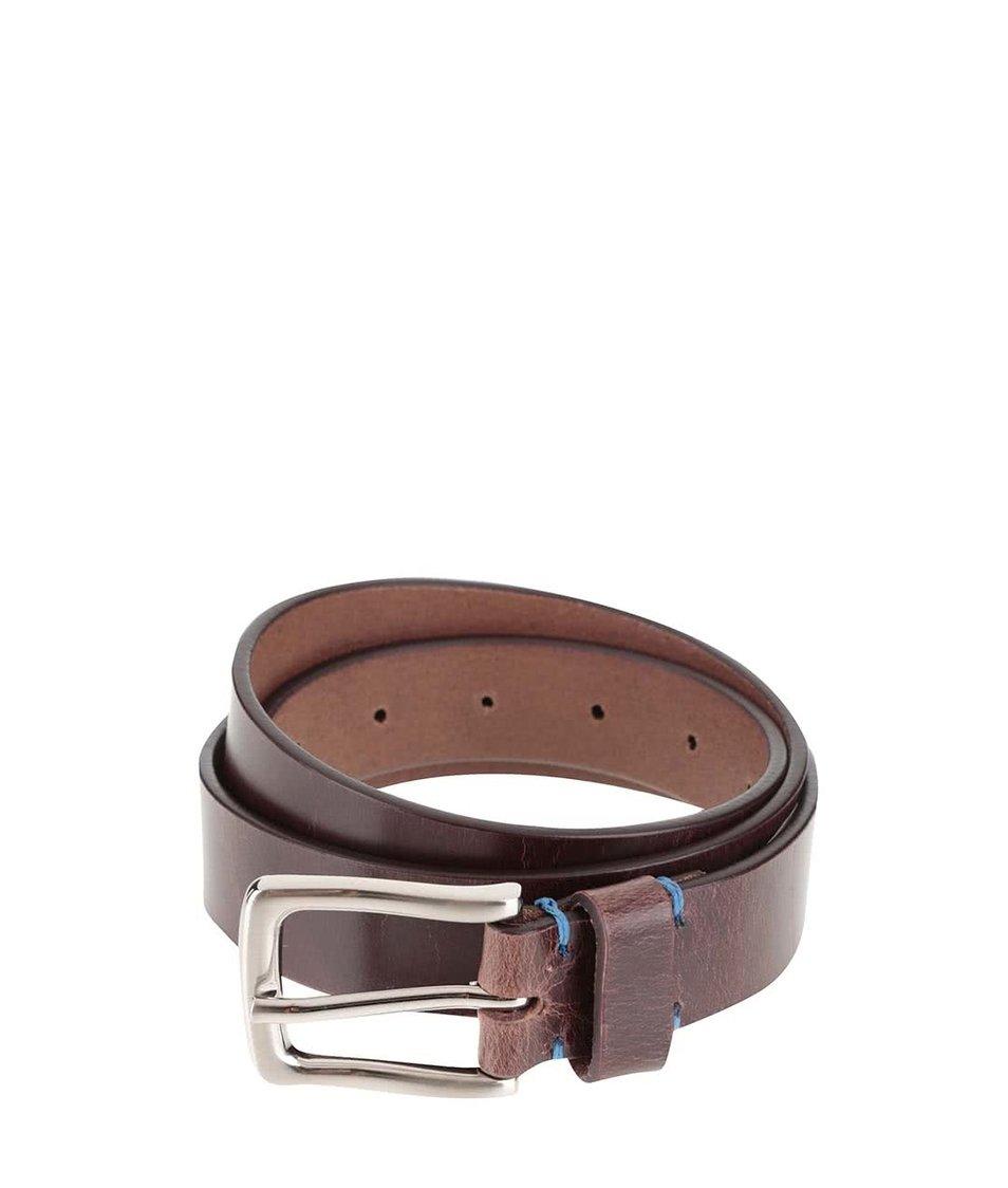 Hnědý kožený pásek Dice Trenton