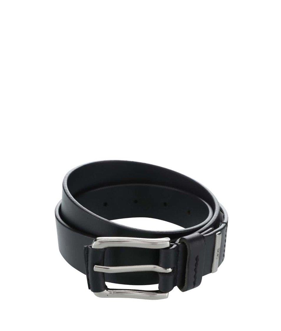 Černý kožený pásek Dice Nevada