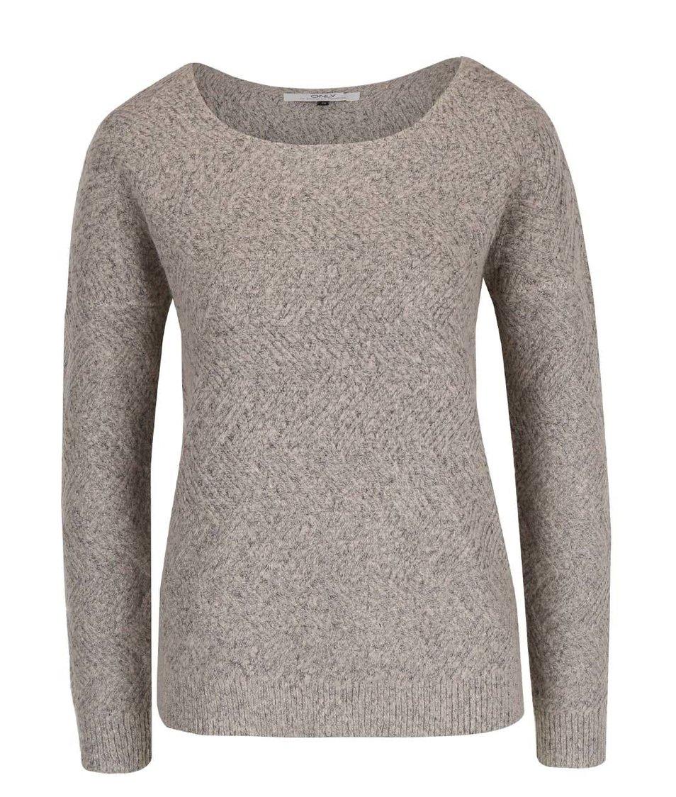Šedobéžový svetr ONLY Bretagne