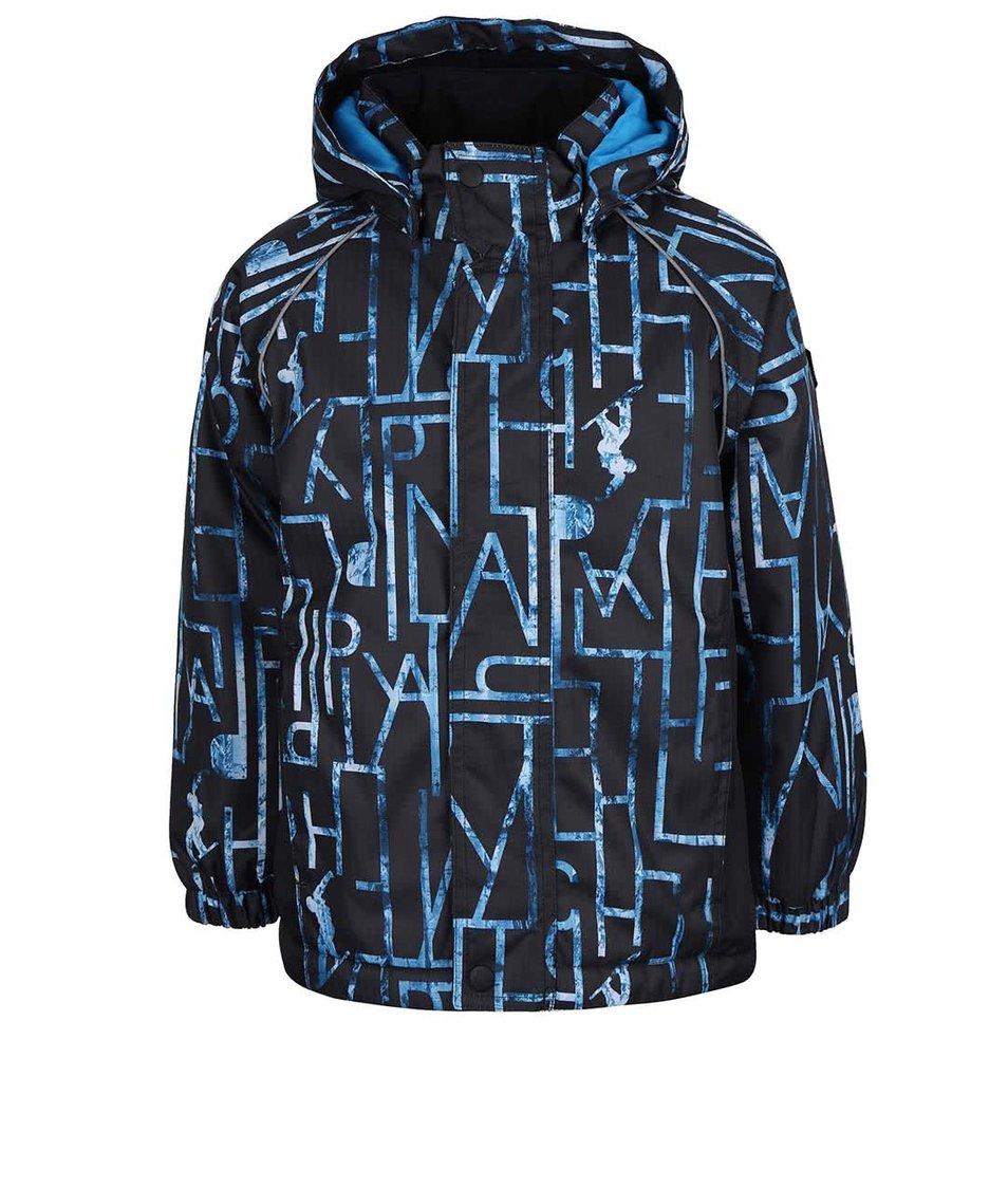 Modrá klučičí vzorovaná bunda name it Rise