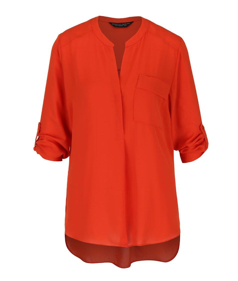 Oranžová halenka s kapsou Dorothy Perkins