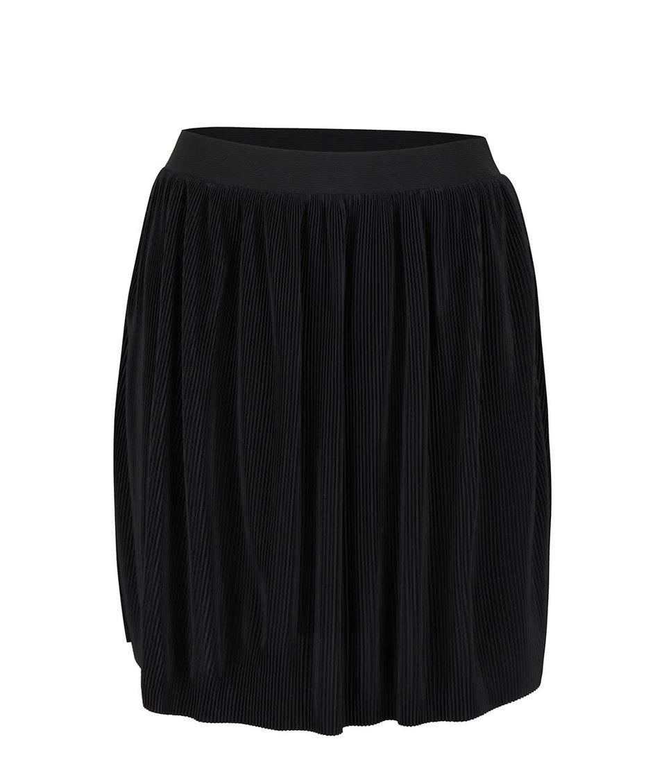 Černá plisovaná sukně se spodničkou VILA Plissa