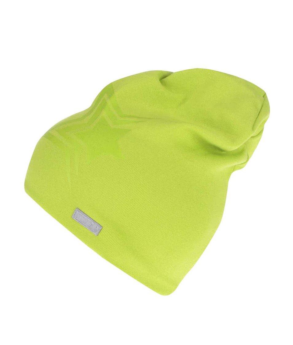 Zelená dětská čepice s potiskem hvězdy name it Moppy
