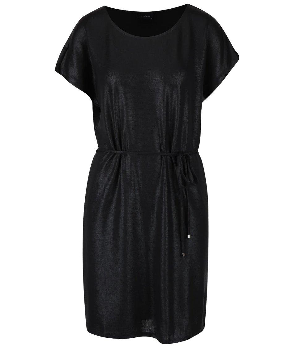 Černé třpytivé šaty VILA Leika