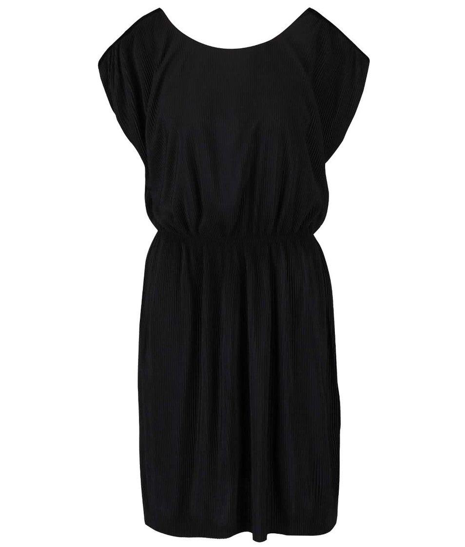 Černé plisované šaty VILA Plissa