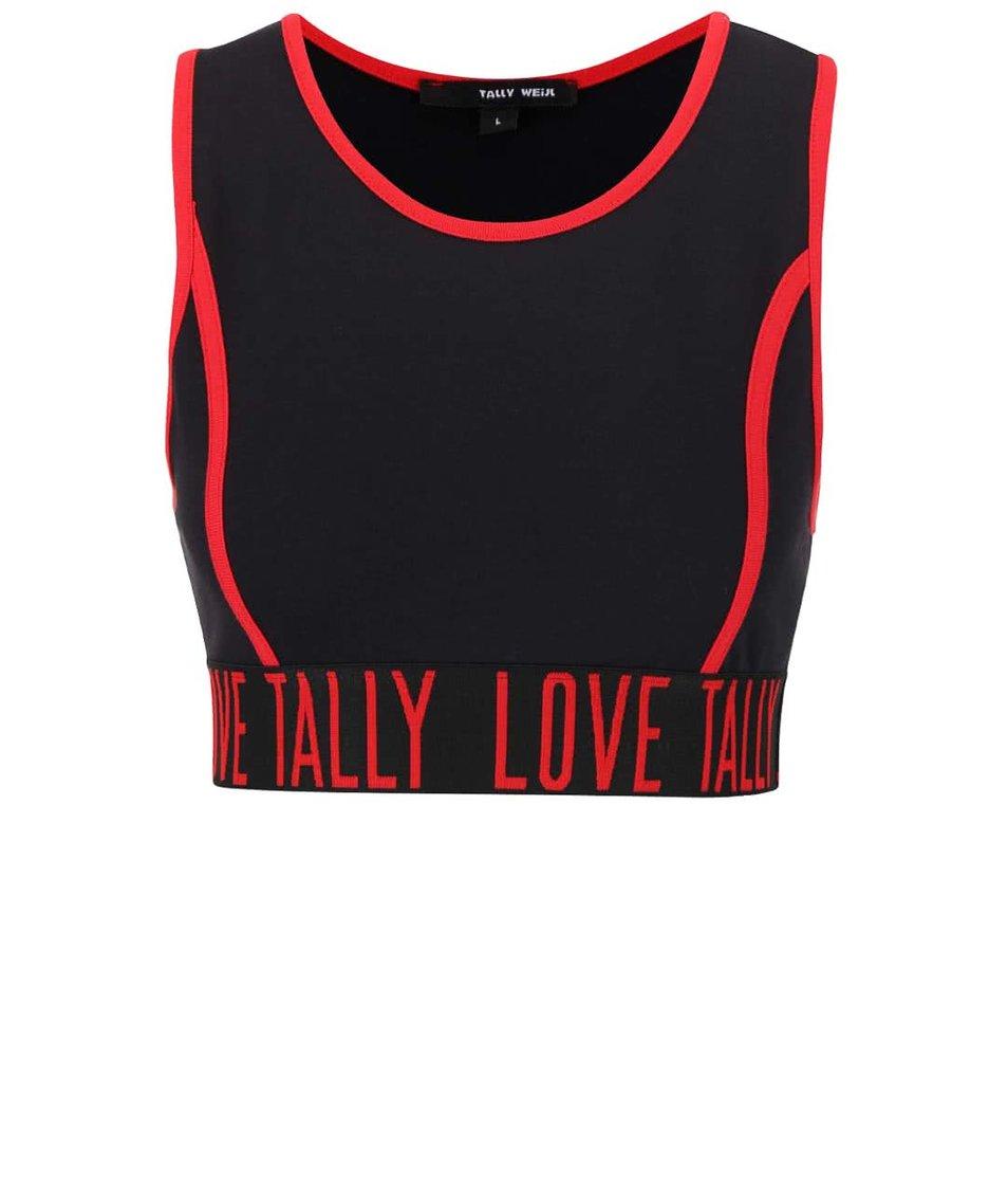 Červeno-černá sportovní podprsenka TALLY WEiJL