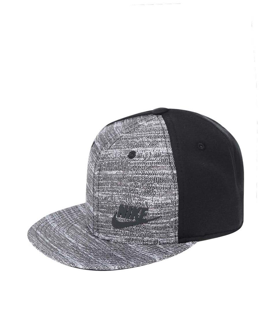 Černo-šedá pánská kšiltovka Nike Tech Pack True