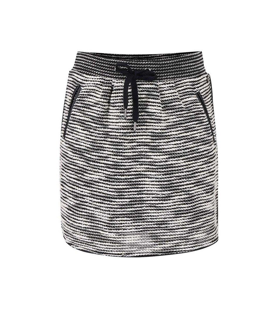 Krémovo-černá žíhaná sukně s kapsami Vero Moda Minna