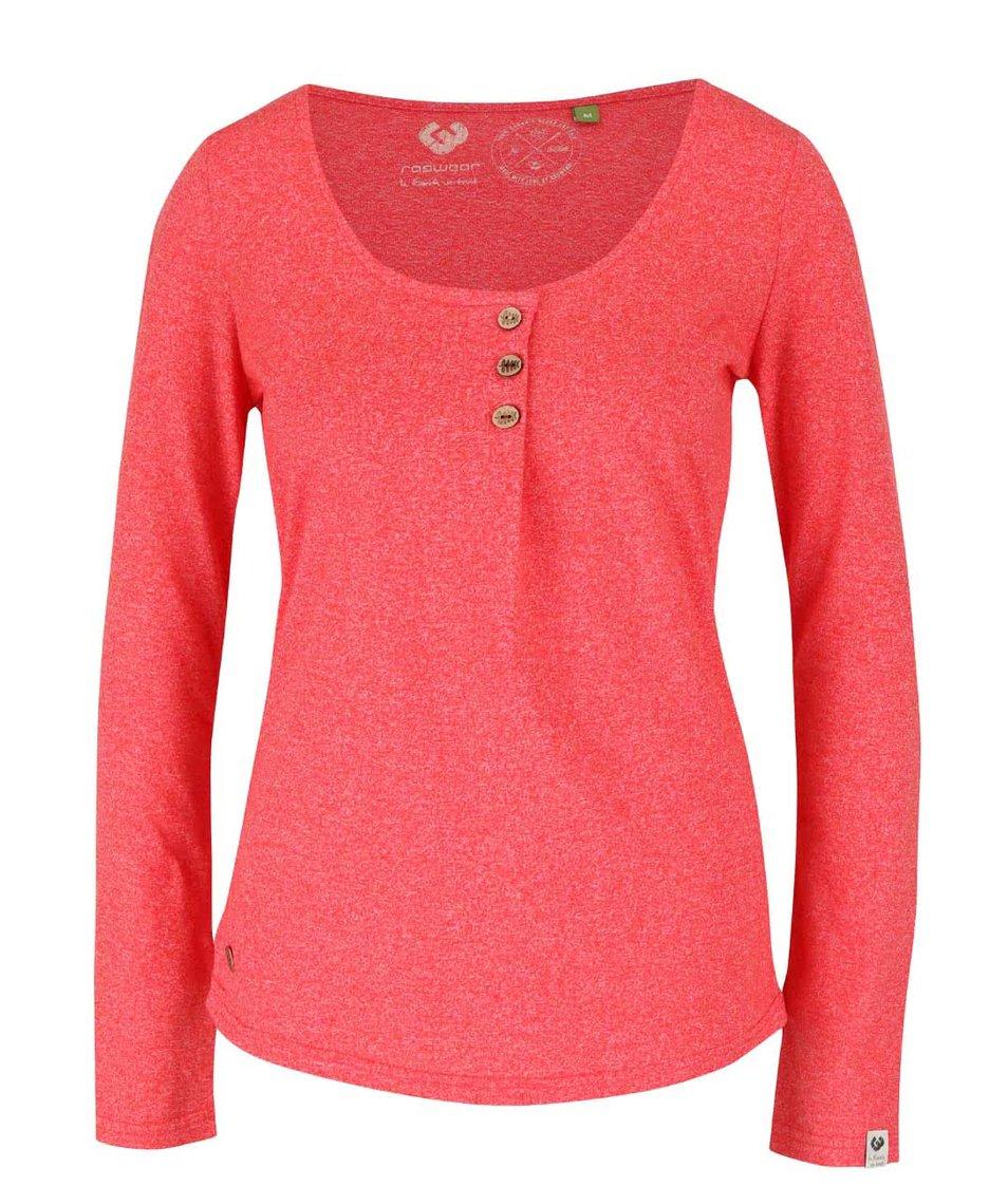 Červené dámské žíhané tričko s dlouhým rukávem Ragwear Mayra Organic