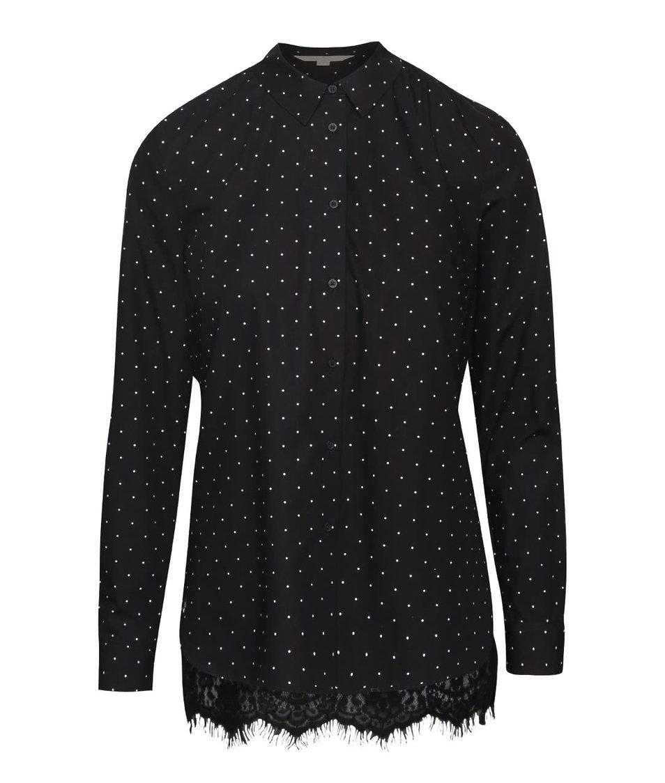 Černá košile s krajkou na zádech French Connection Belle