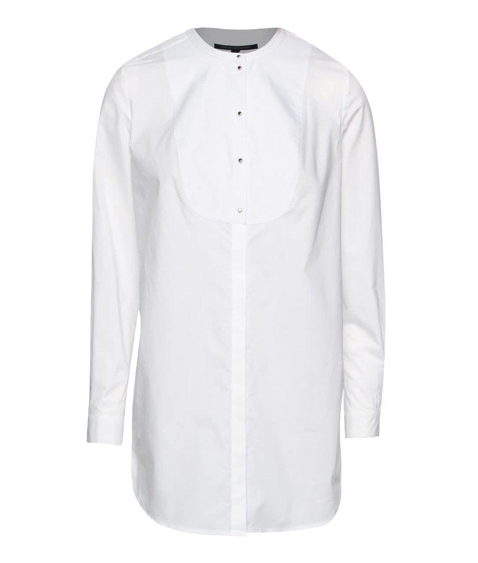 Bílá delší košile French Connection Southside