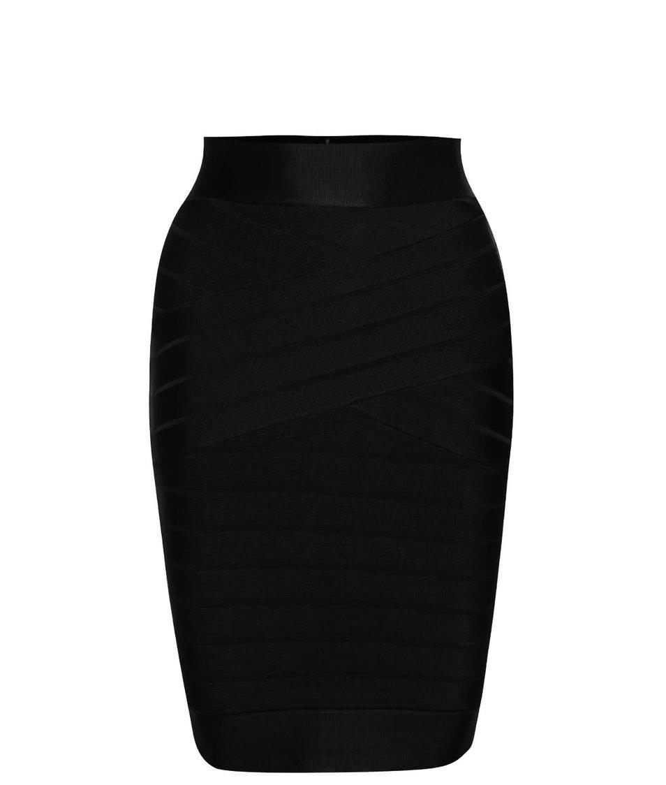 Černá elastická sukně se zipem French Connection Spotlight