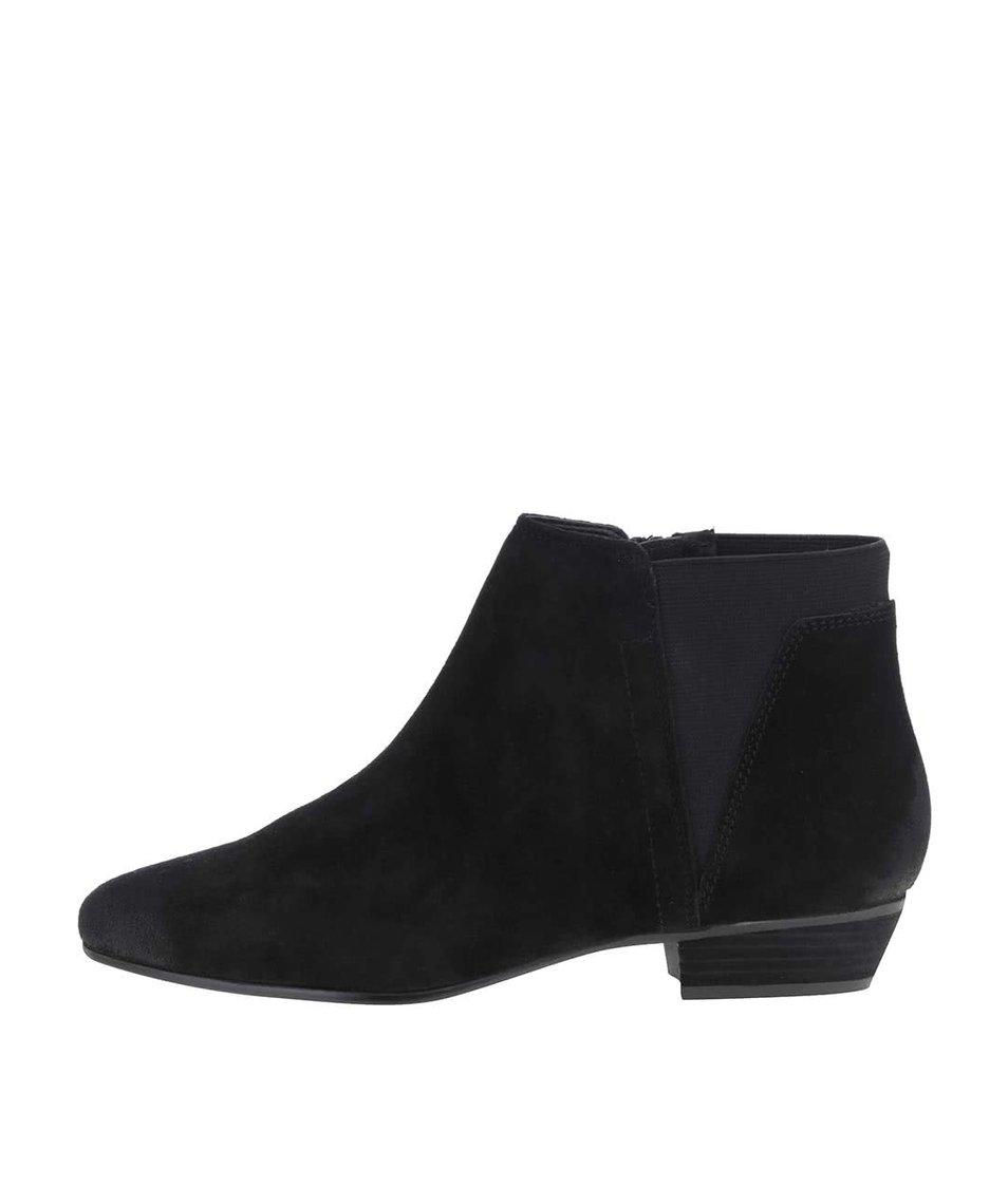 Černé dámské semišové kotníkové boty ALDO Siman