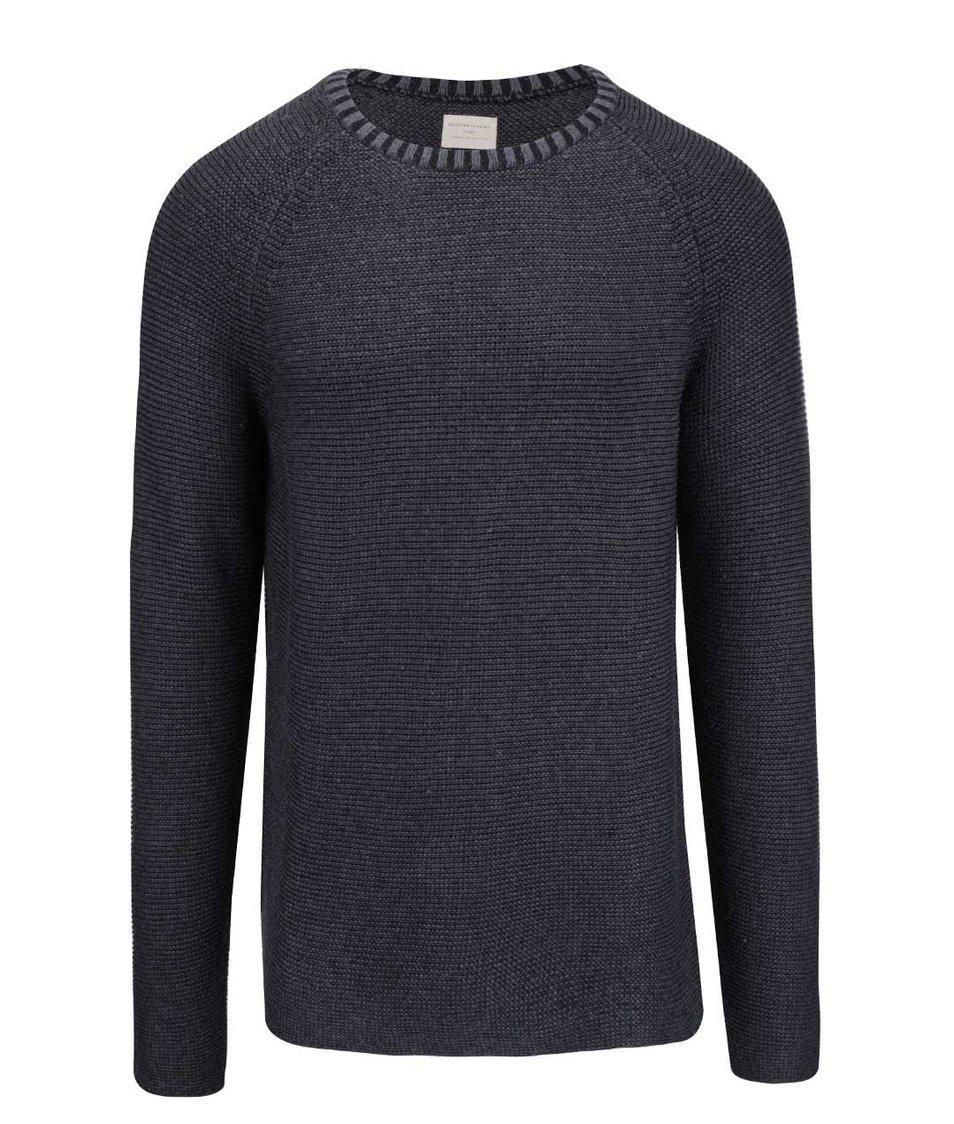 Tmavě modrý svetr Selected Homme Mel