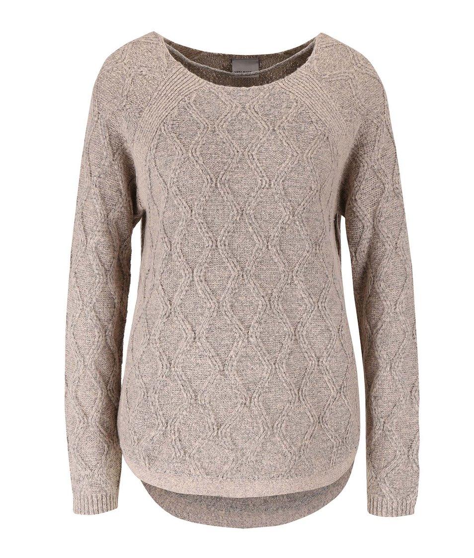 Šedorůžový svetr s jemným vzorem Vero Moda Raven