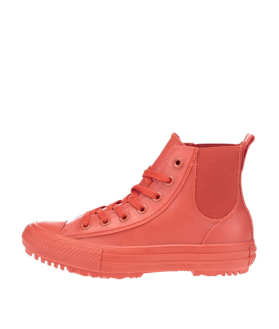 Červené dámské kotníkové tenisky Converse Chuck Taylor All Star Chelsea Boot