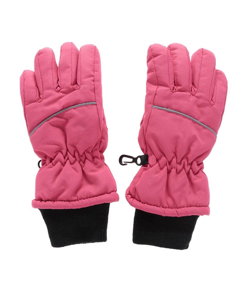 Růžové holčičí zimní rukavice name it Moutlast
