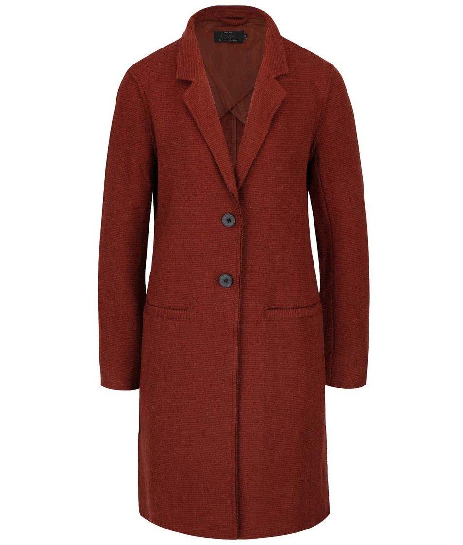 Červenohnědý lehčí kabát ONLY Ella