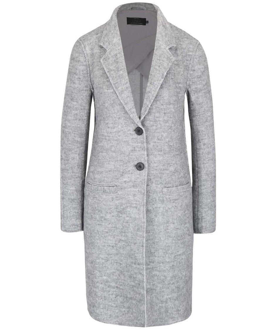 Světle šedý žíhaný lehčí kabát ONLY Ella