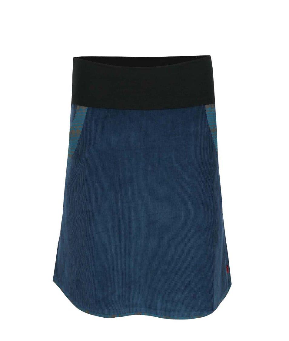 Petrolejová manšestrová sukně s elastickým pasem Tranquillo Batu