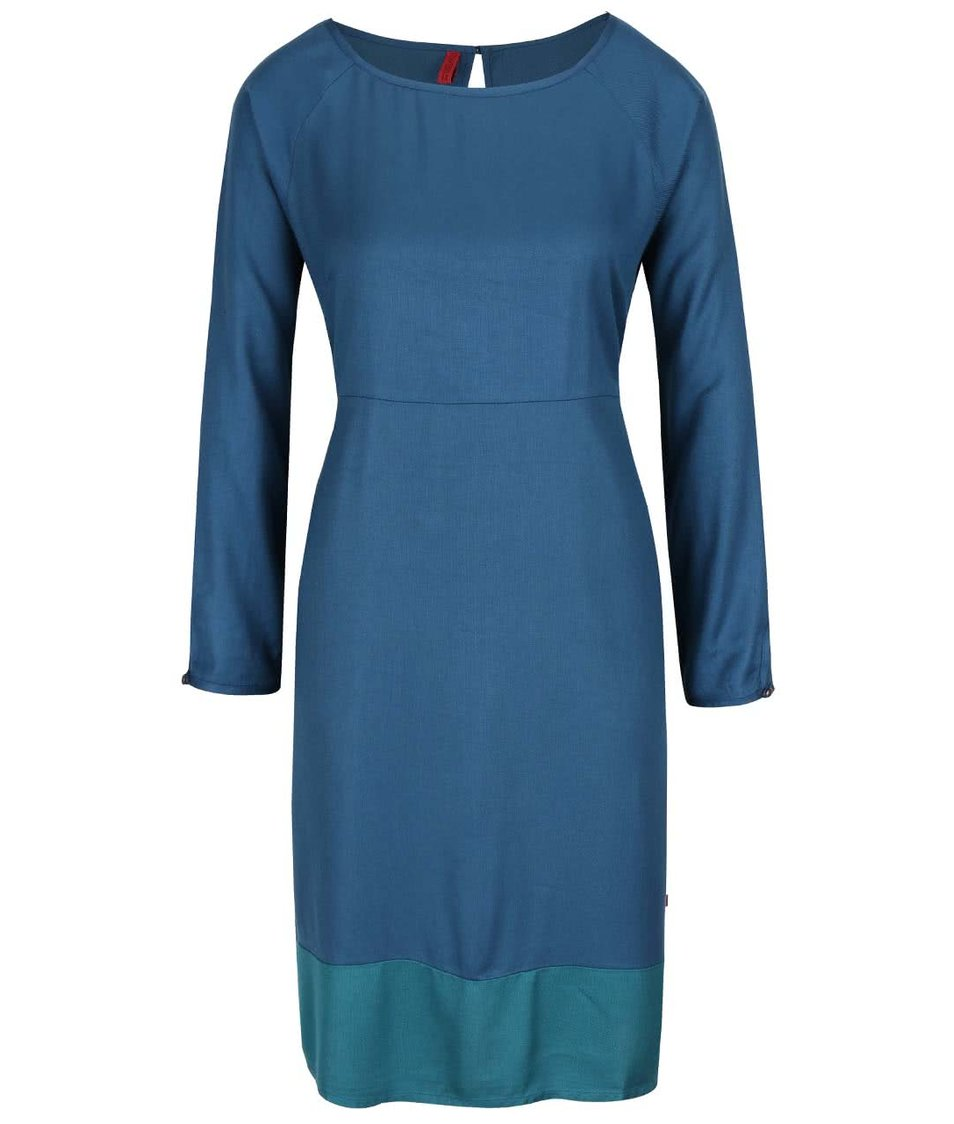 Petrolejové šaty s dlouhým rukávem Tranquillo Emilia