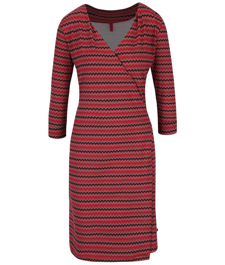 Červené vzorované zavinovací šaty Tranquillo Jamala