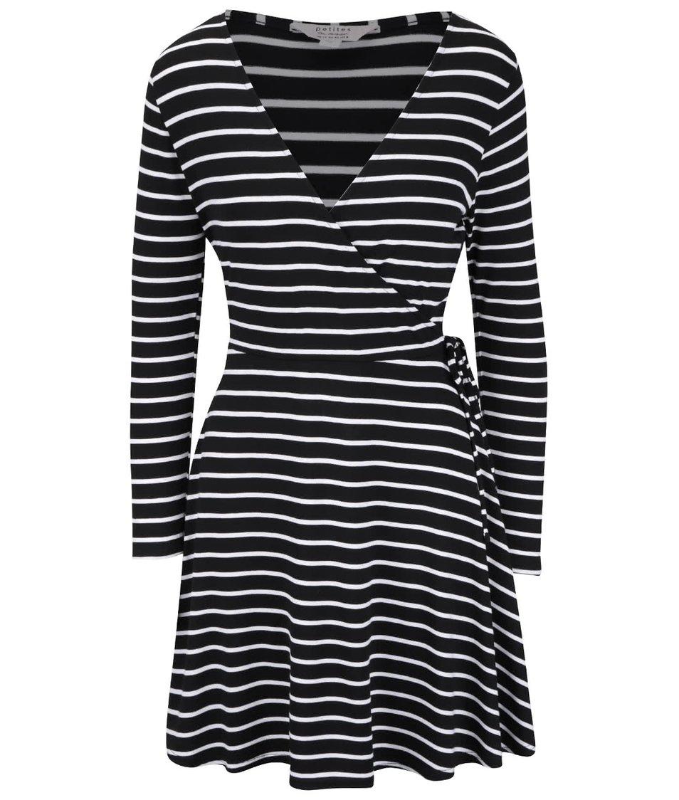 Černé šaty s bílými proužky Miss Selfridge