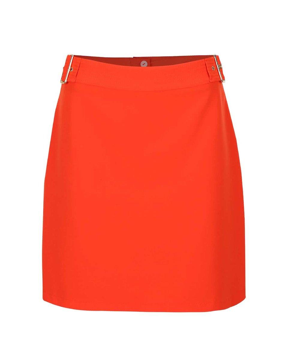 Oranžová sukně se sponou ve zlaté barvě Dorothy Perkins