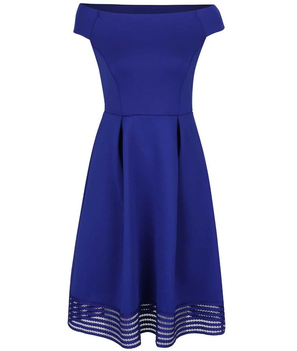 Modré šaty s odhalenými rameny Dorothy Perkins