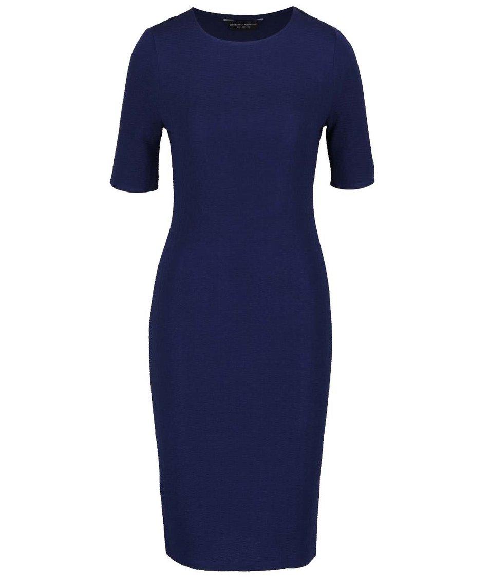 Tmavě modré pouzdrové šaty s krátkými rukávy Dorothy Perkins