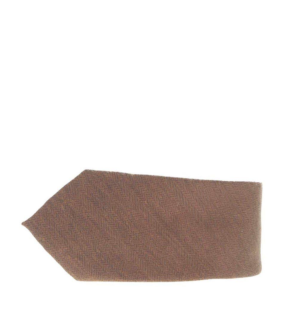 Hnědá kravata Burton Menswear London