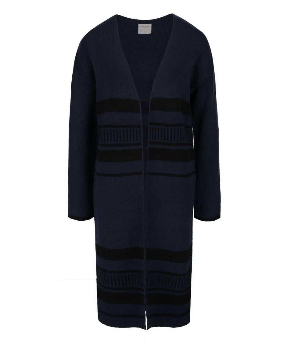 Tmavě modrý dlouhý cardigan Vero Moda Mingos