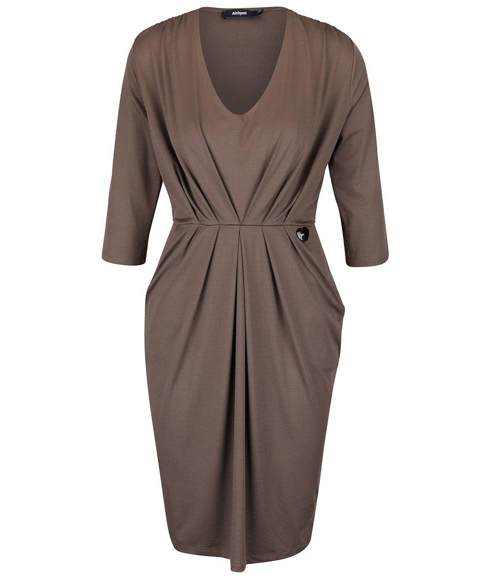 Oříškové šaty s kapsami Alchymi Manara