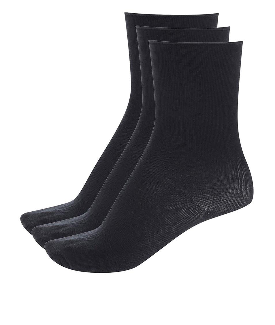 Sada tří párů černých ponožek Vero Moda Socks Basic