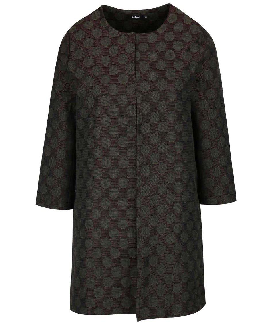 Khaki puntikatý kabát Alchymi Tarumi