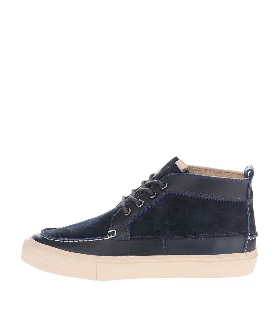Tmavě modré pánské semišové kotníkové boty Pointer Roger