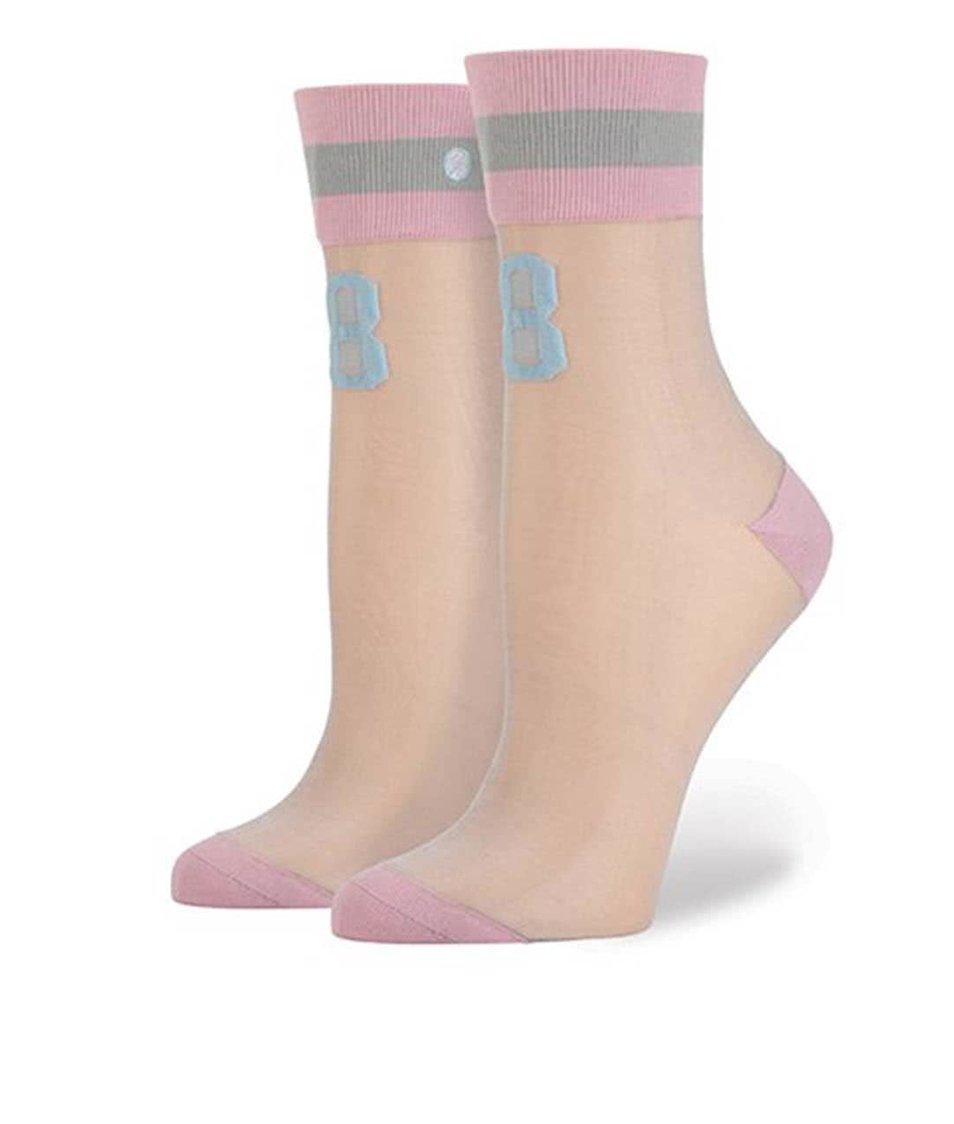 Růžové dámské ponožky s číslem Stance Number