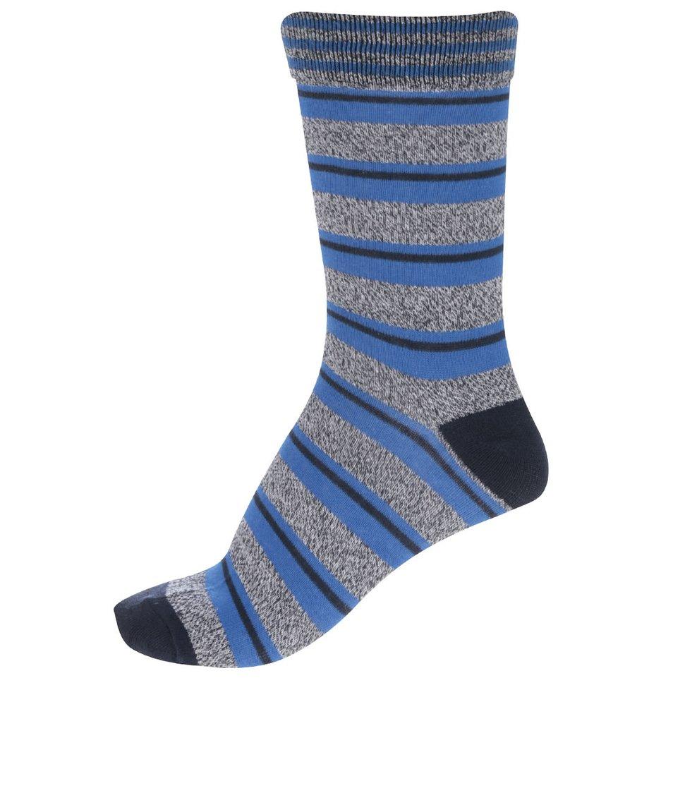 Šedo-modré pruhované ponožky Jack & Jones Blue