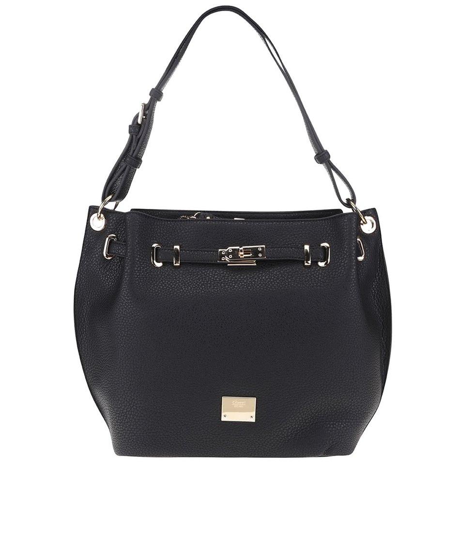 Černá kabelka s detaily ve zlaté barvě Gionni Odette