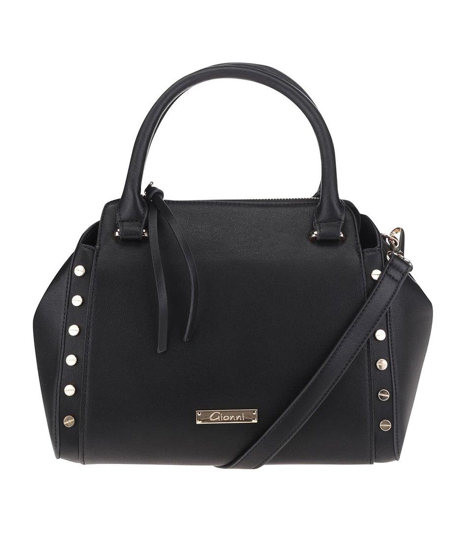 Černá kabelka s detaily ve zlaté barvě Gionni Romy