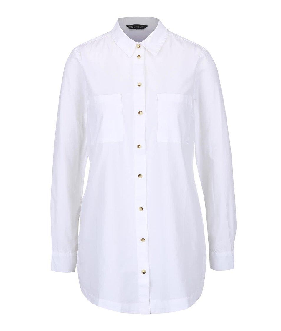 Bílá košile s kapsami Dorothy Perkins