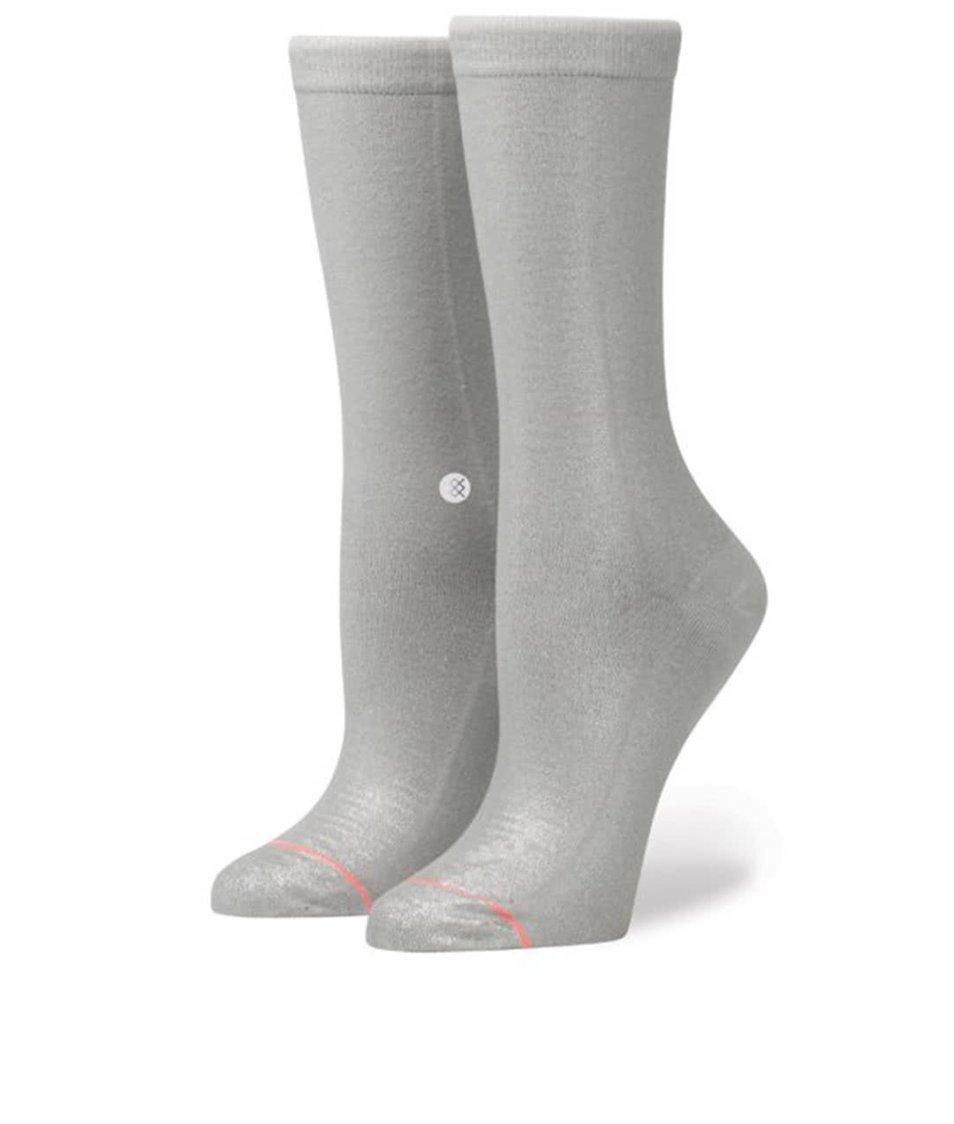 Šedé dámské třpytivé ponožky Stance Silver Bullet